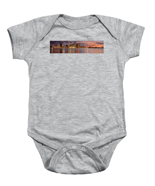New Orleans Skyline At Dusk Baby Onesie