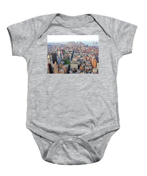 New York Aerial View Baby Onesie