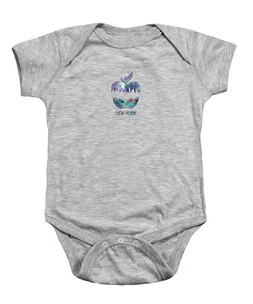 new York apple  Baby Onesie