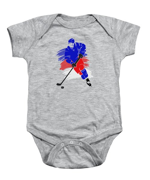 New York Rangers Player Shirt Baby Onesie by Joe Hamilton