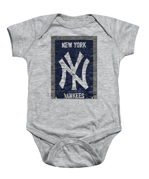 New York Yankees Brick Wall Baby Onesie