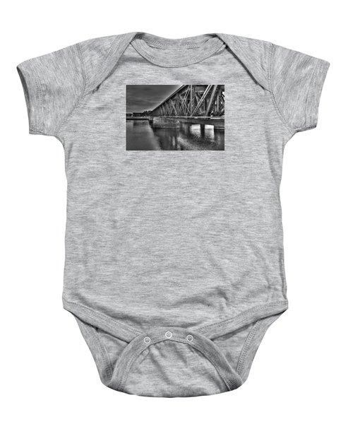Newburyport Train Trestle Bw Baby Onesie