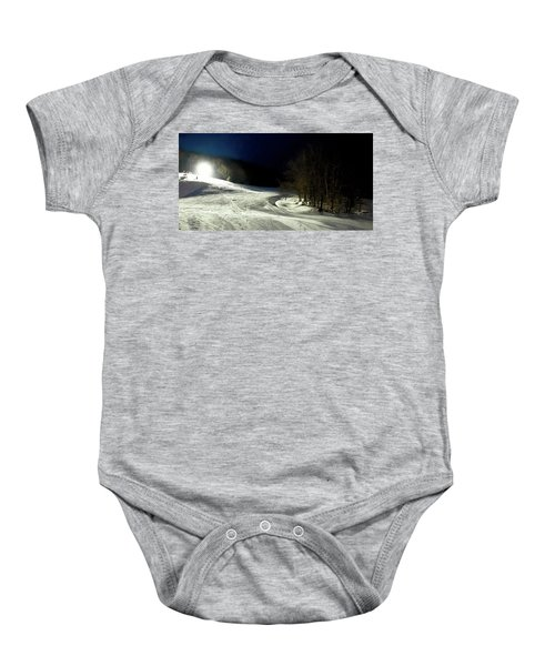 Baby Onesie featuring the photograph Night Skiing At Mccauley Mountain by David Patterson