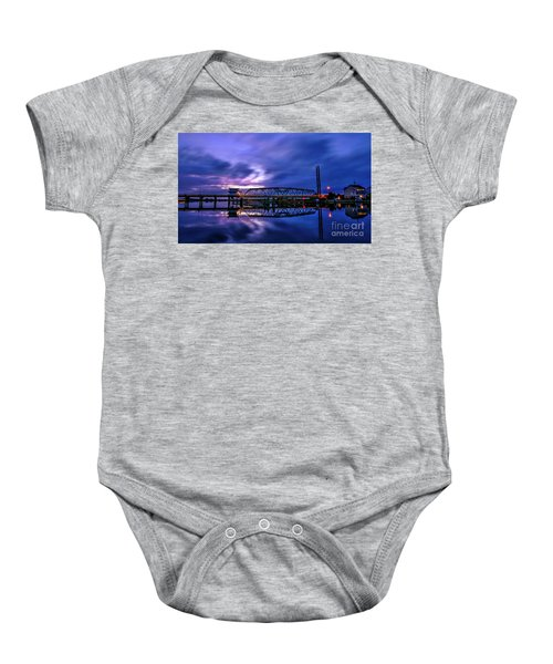 Night Swing Bridge Baby Onesie