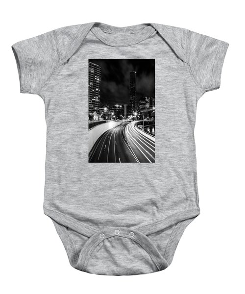 Night Time In The City  Baby Onesie