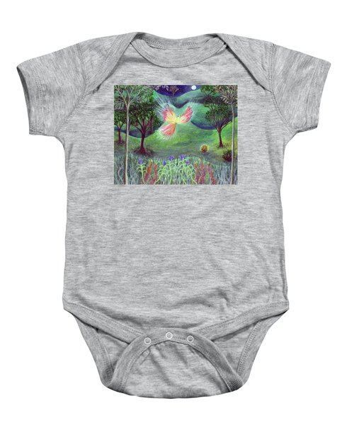 Night With Fire Bird And Sacred Bush Baby Onesie