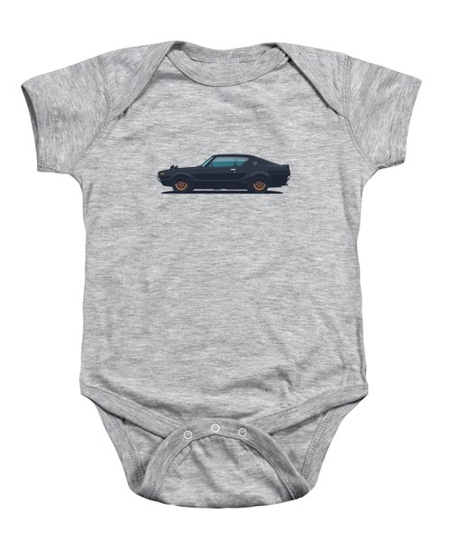 Nissan Skyline Gt-r C110 Side - Plain Black Baby Onesie