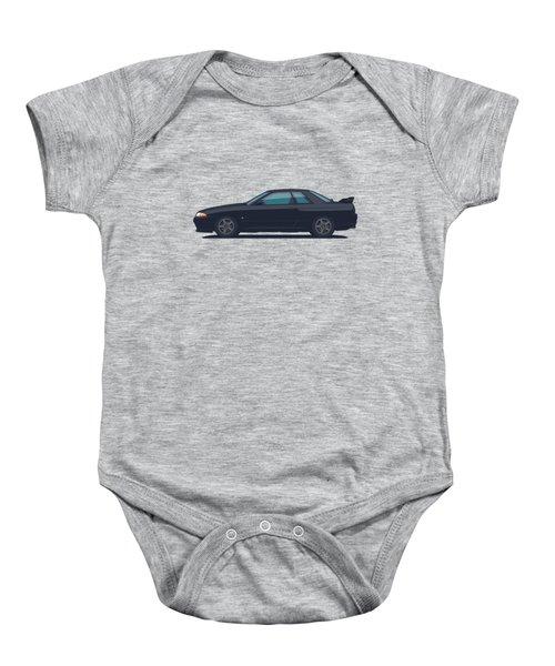 Nissan Skyline R32 Gt-r - Plain Black Baby Onesie