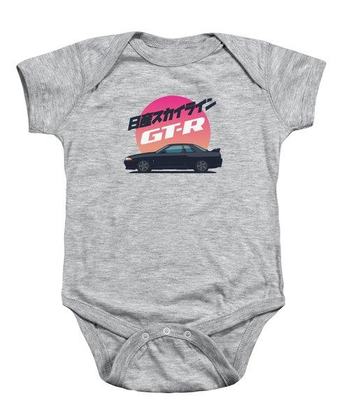 Nissan Skyline R32 Gt-r - Vert Black Baby Onesie