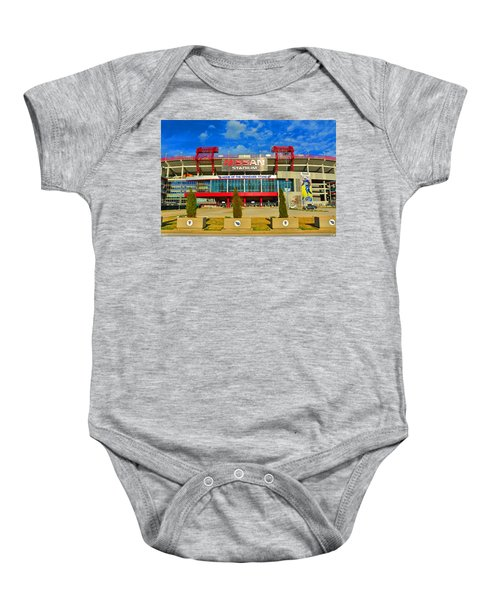 Nissan Stadium Home Of The Tennessee Titans Baby Onesie
