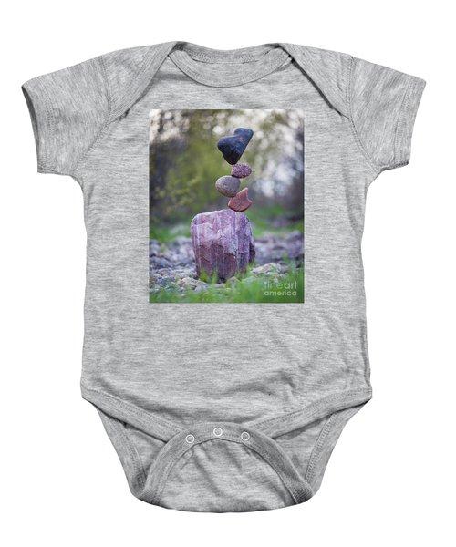 Zen Stack #4 Baby Onesie