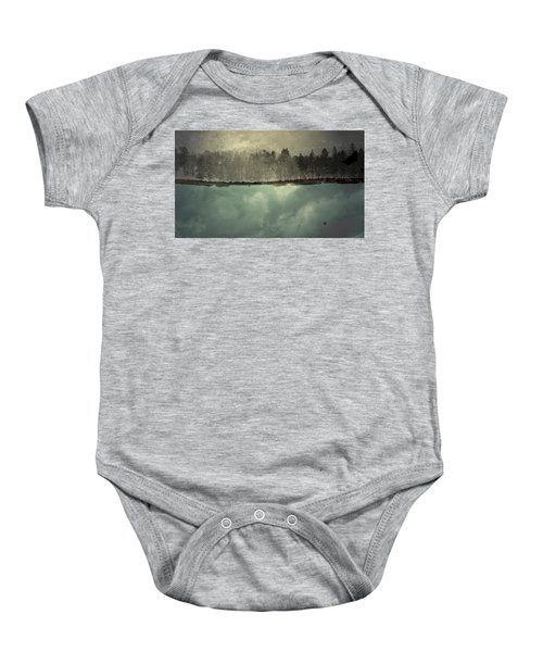 No One Ever Leaves  Baby Onesie