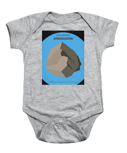 No695 My Armageddon Minimal Movie Poster Baby Onesie by Chungkong Art