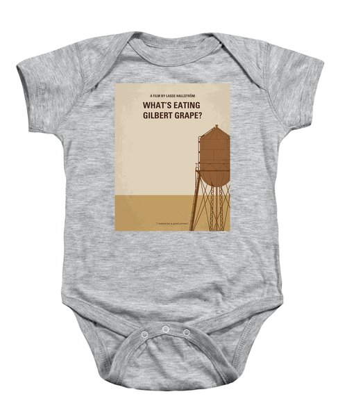 No795 My Whats Eating Gilbert Grape Minimal Movie Poster Baby Onesie by Chungkong Art
