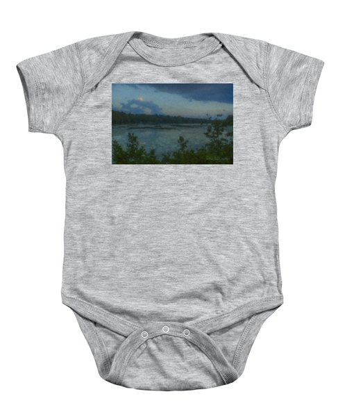 Nocturne At Ames Long Pond Baby Onesie