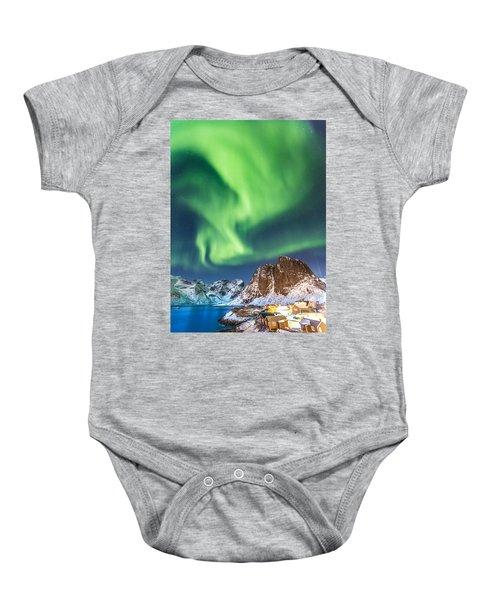 Northern Lights In Hamnoy Baby Onesie