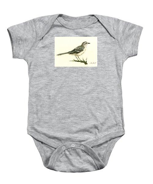 Northern Mockingbird Baby Onesie by Juan  Bosco