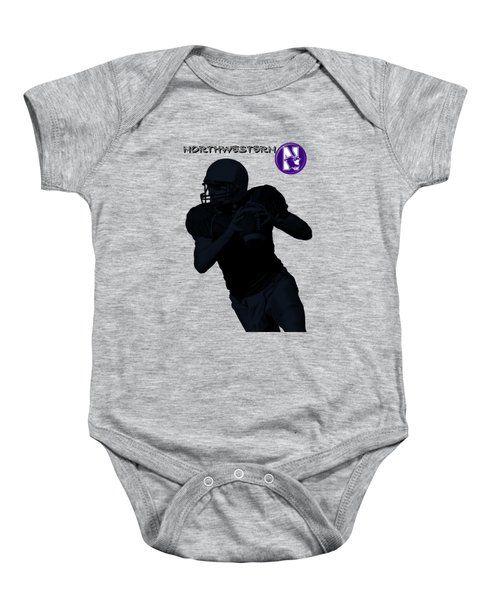 Northwestern Football Baby Onesie