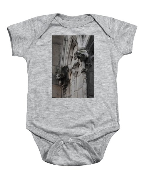 Notre Dame Grotesques Baby Onesie