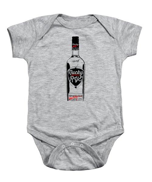 Nucky Thompson Boardwalk Rye Whiskey Tee Baby Onesie by Edward Fielding