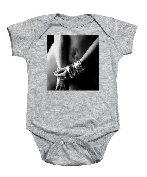 Nude Tattoo And Bangles Baby Onesie
