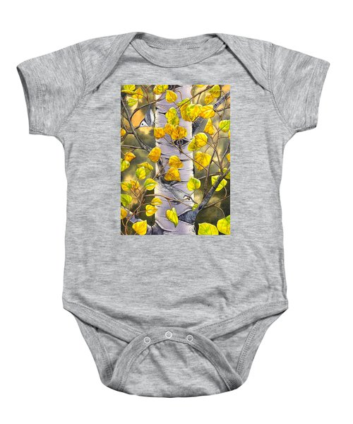Nuthatches Baby Onesie