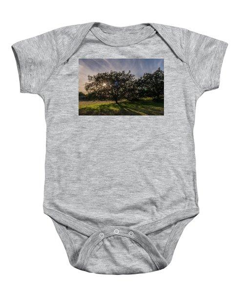 Oak Sunburst Baby Onesie