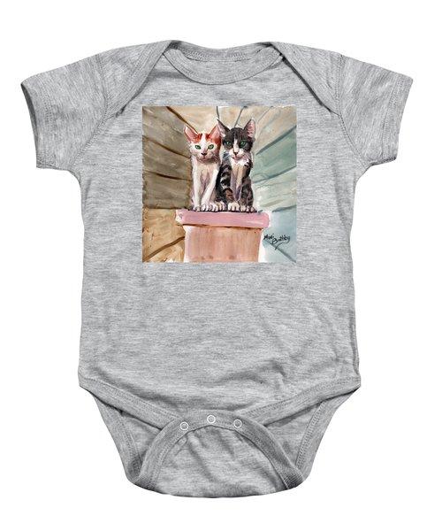 Obi And Lisa Two Kittens Baby Onesie