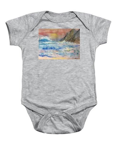 Ocean Waves Baby Onesie