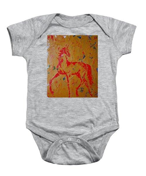 Ochre Horse Baby Onesie