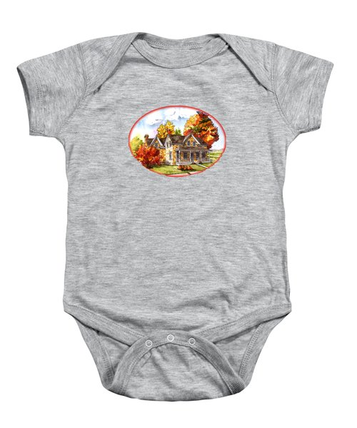 October At The Farm Baby Onesie