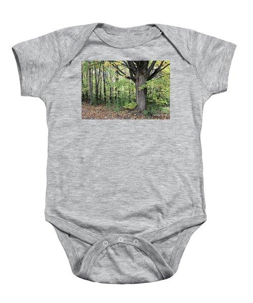 October Trees Baby Onesie
