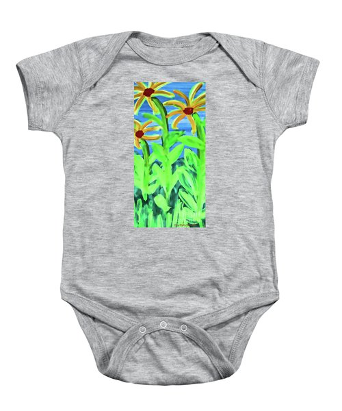 Oh Glorious Day Floral Baby Onesie