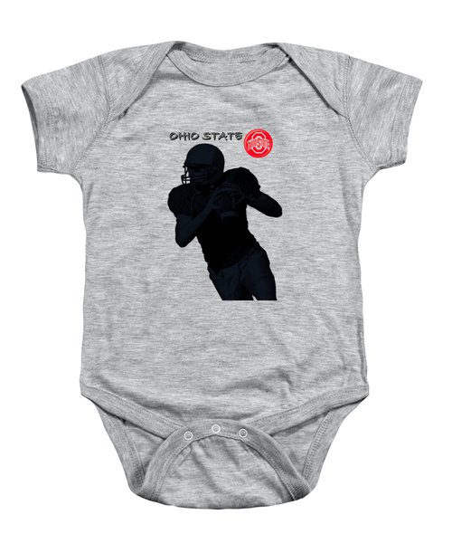 Baby Onesie featuring the digital art Ohio State Football by David Dehner