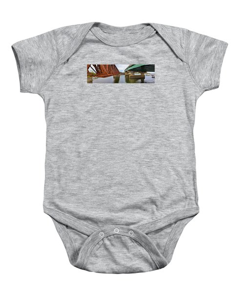 Old And New Baby Onesie