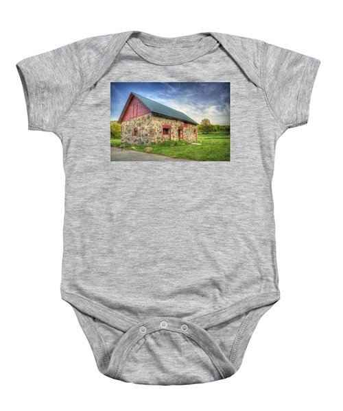 Old Barn At Dusk Baby Onesie