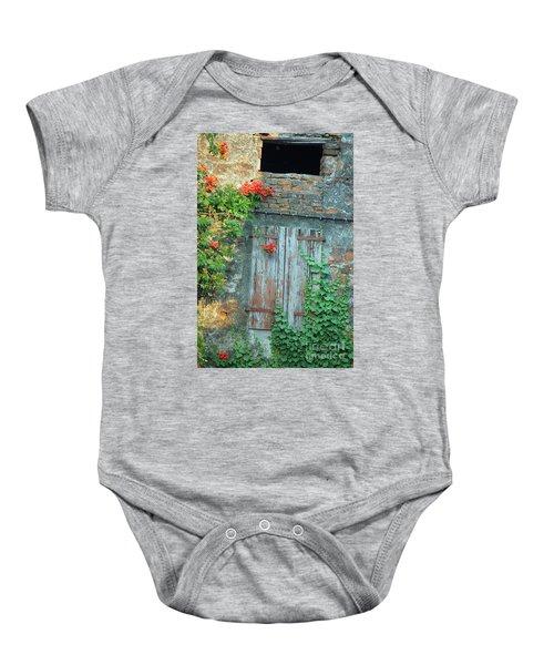 Old Farm Door Baby Onesie