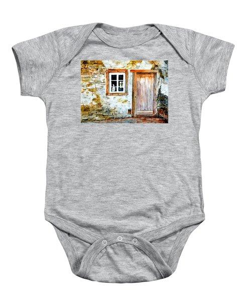 Old Farm House Baby Onesie