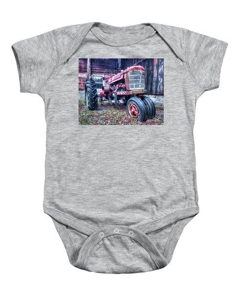 Old Farm Tractor Baby Onesie