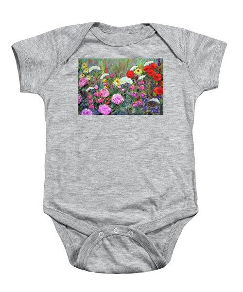 Old Fashioned Garden Baby Onesie