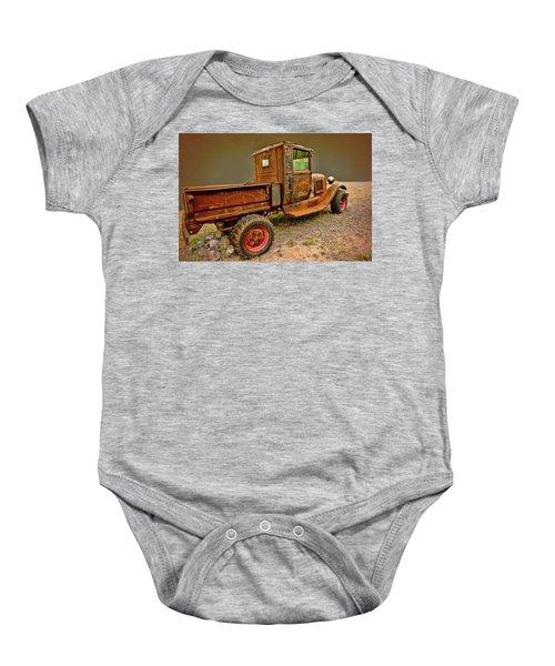 Old Ford Pickup Baby Onesie