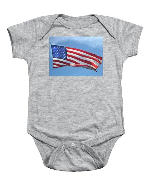 Old Glory Never Fades Baby Onesie