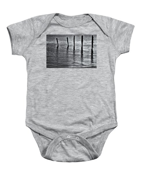 Baby Onesie featuring the photograph Old Jetty - S by Werner Padarin