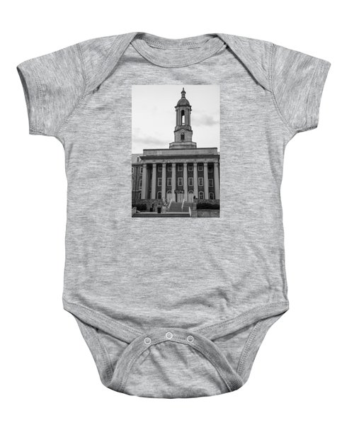Old Main Penn State Black And White Baby Onesie by John McGraw