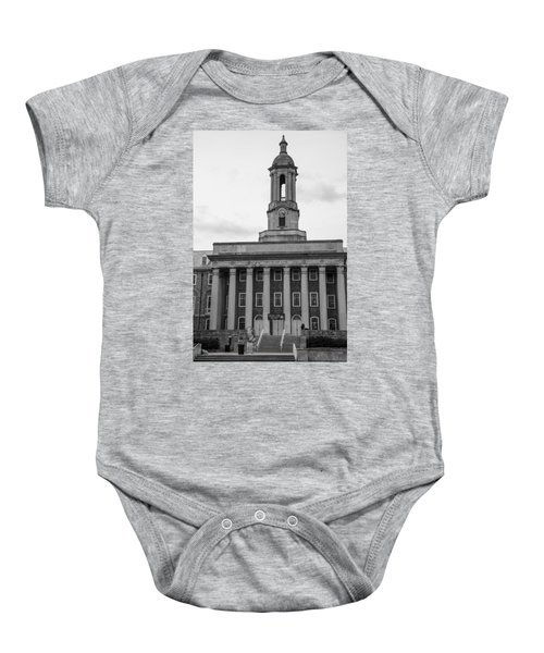 a4c3929f10b2a6 Old Main Penn State Black And White Baby Onesie