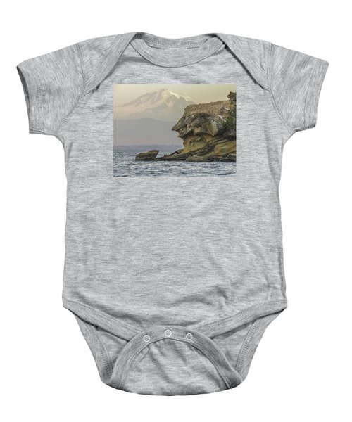 Old Man And The Mountain Baby Onesie