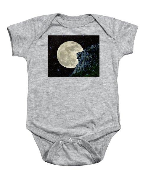 Old Man / Man In The Moon Baby Onesie