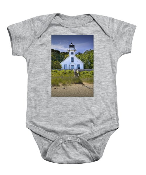 Old Mission Point Lighthouse In Grand Traverse Bay Michigan Number 2 Baby Onesie