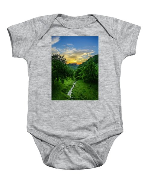 Old Orchard Glow Baby Onesie