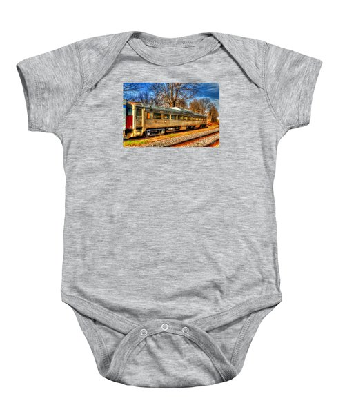 Old Rail Car Baby Onesie
